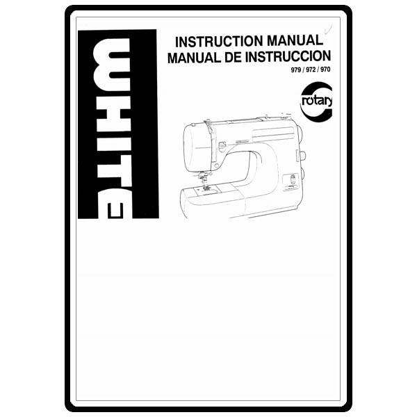 Instruction Manual, White 979 : Sewing Parts Online
