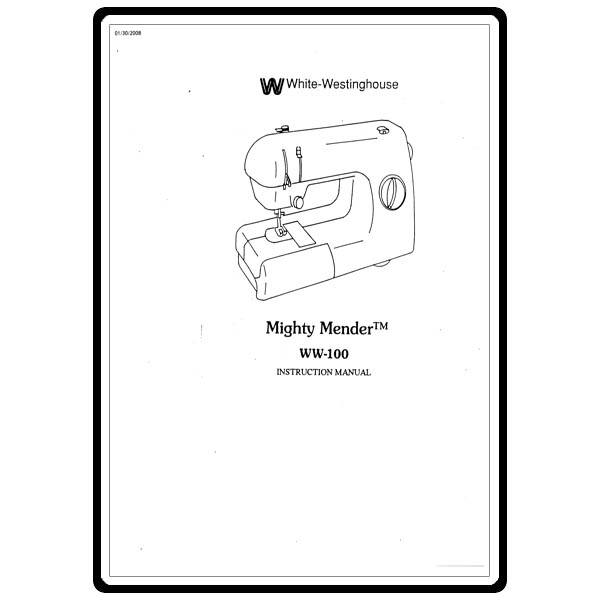Instruction Manual, White W100 : Sewing Parts Online