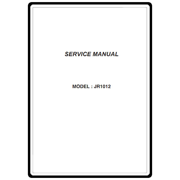 Service Manual, Janome JR1012 : Sewing Parts Online