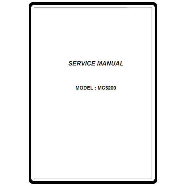 Service Manual, Janome MC5200 : Sewing Parts Online