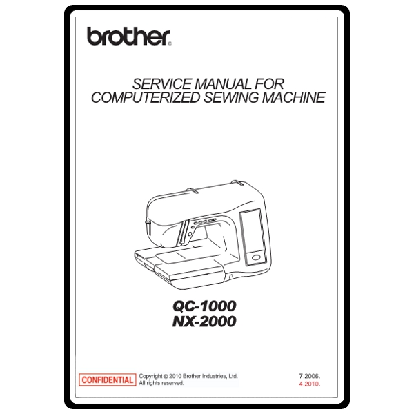 Service Manual, Brother NX2000 : Sewing Parts Online