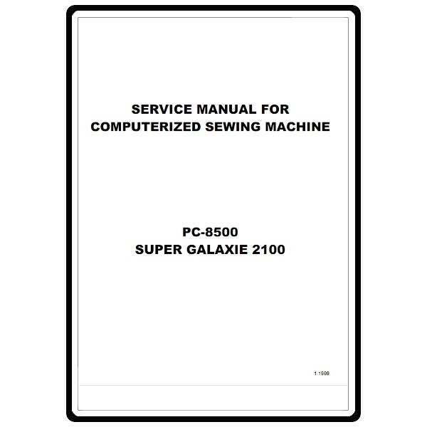 Service Manual, Brother PC8500 : Sewing Parts Online