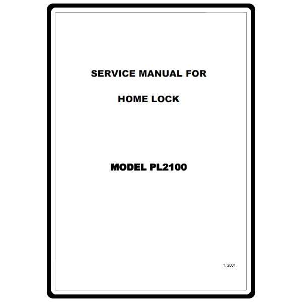 Service Manual, Brother PL2100 : Sewing Parts Online
