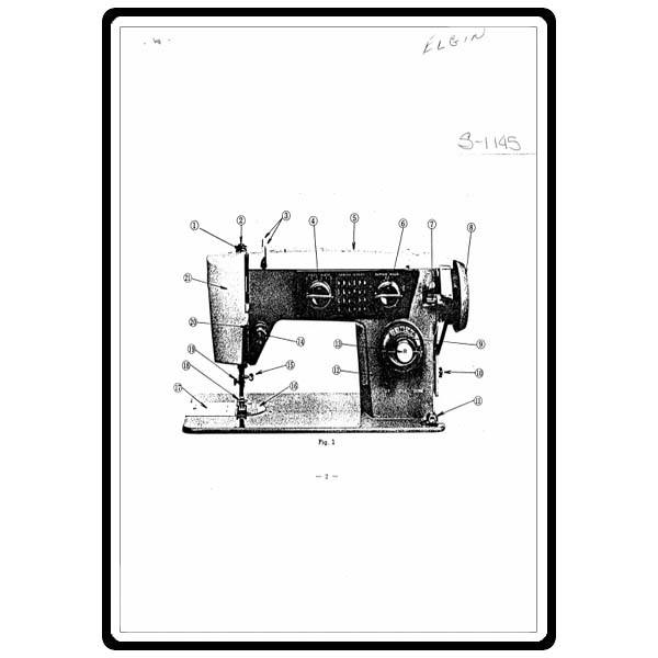 Instruction Manual, White S1145 : Sewing Parts Online