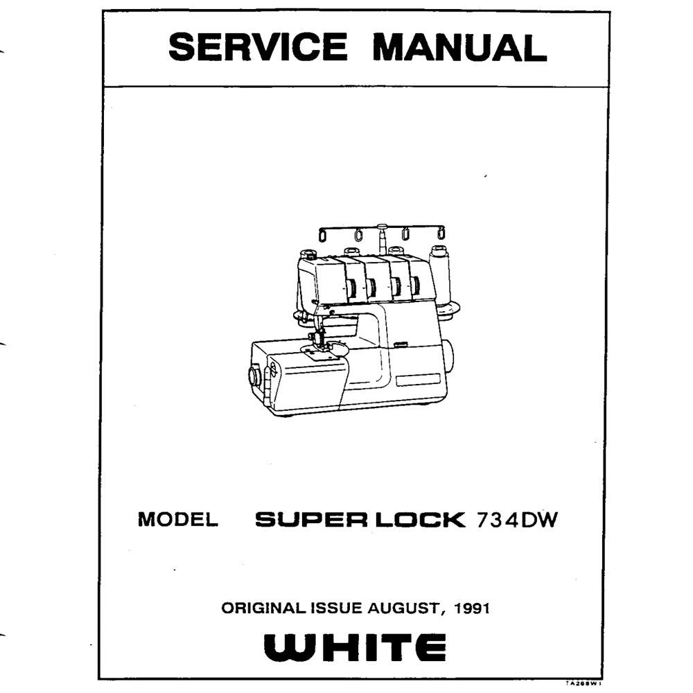 Service Manual, White 734DW : Sewing Parts Online