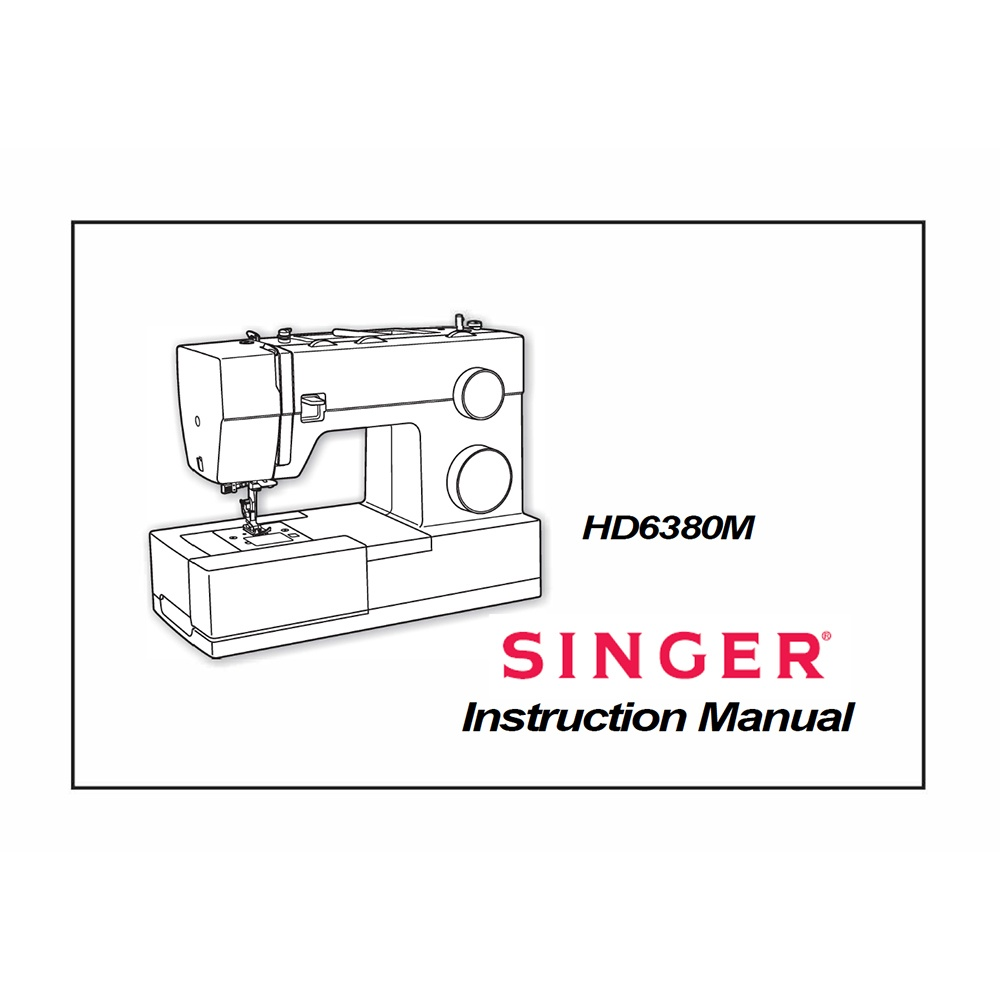 Instruction Manual, Singer HD6380 : Sewing Parts Online