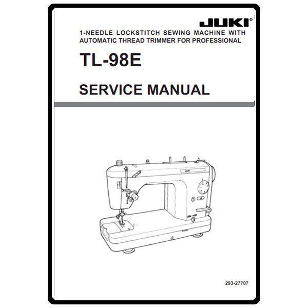 Service Manual, Juki TL-98E : Sewing Parts Online