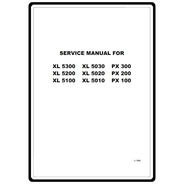 Service Manual, Brother XL5200 : Sewing Parts Online