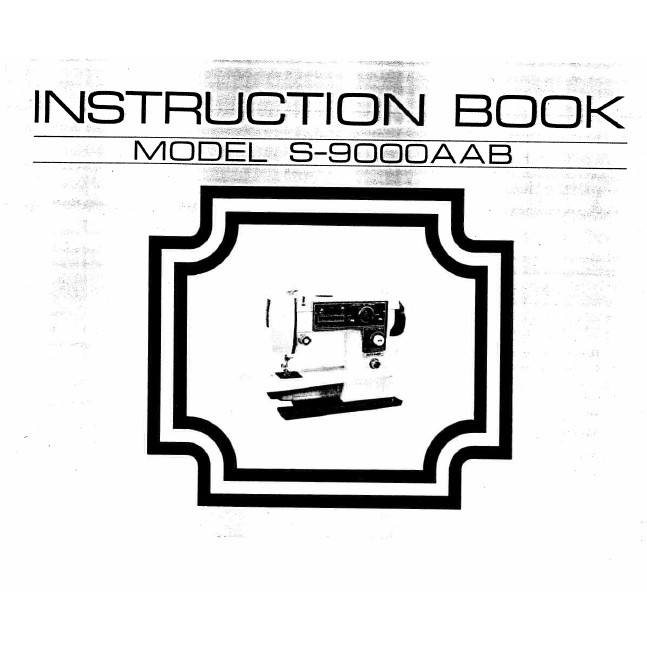 Instruction Manual, White S9000 : Sewing Parts Online