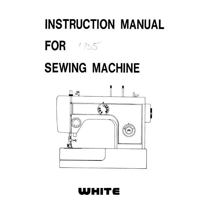 Instruction Manual, White 1755 : Sewing Parts Online