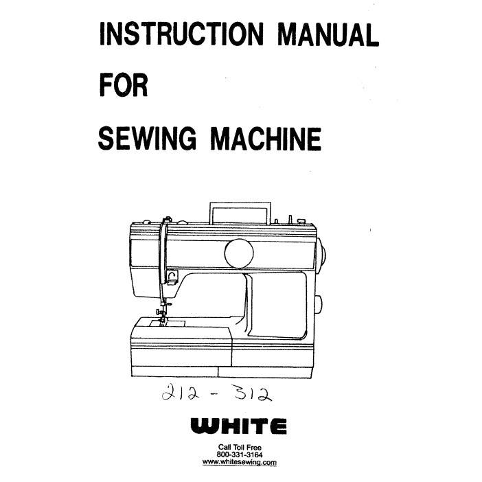 Instruction Manual, White 212 : Sewing Parts Online