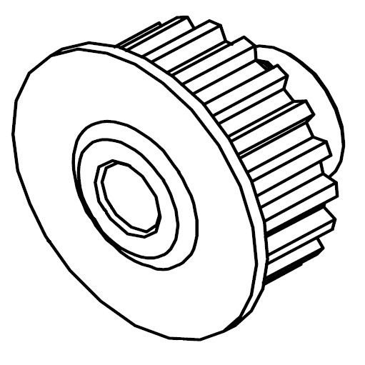 Lower Shaft Pulley, Juki #400-55826 : Sewing Parts Online