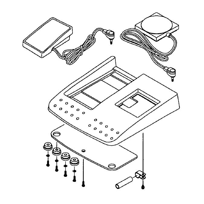 Pedal Switch Mas. Assembly, Juki #40064858 : Sewing Parts