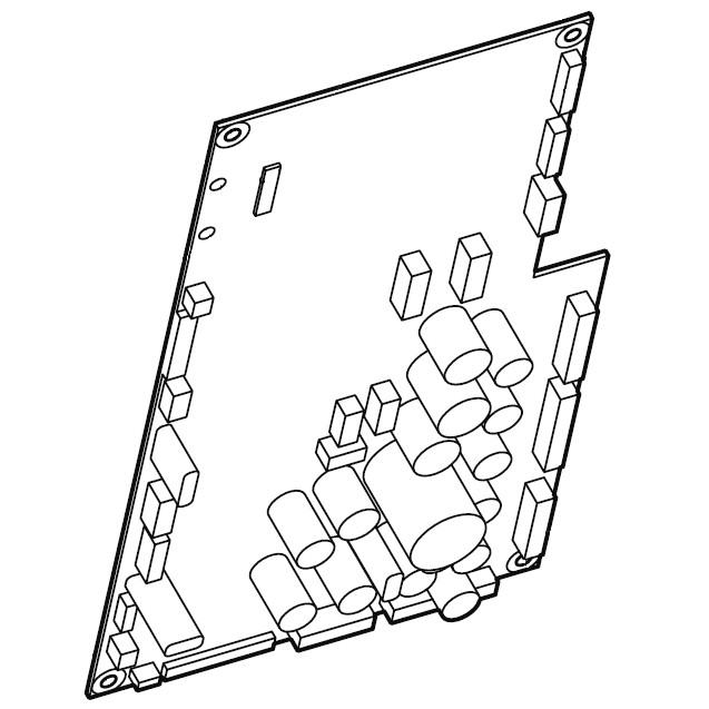 circuits printed circuit board marking the track closeup