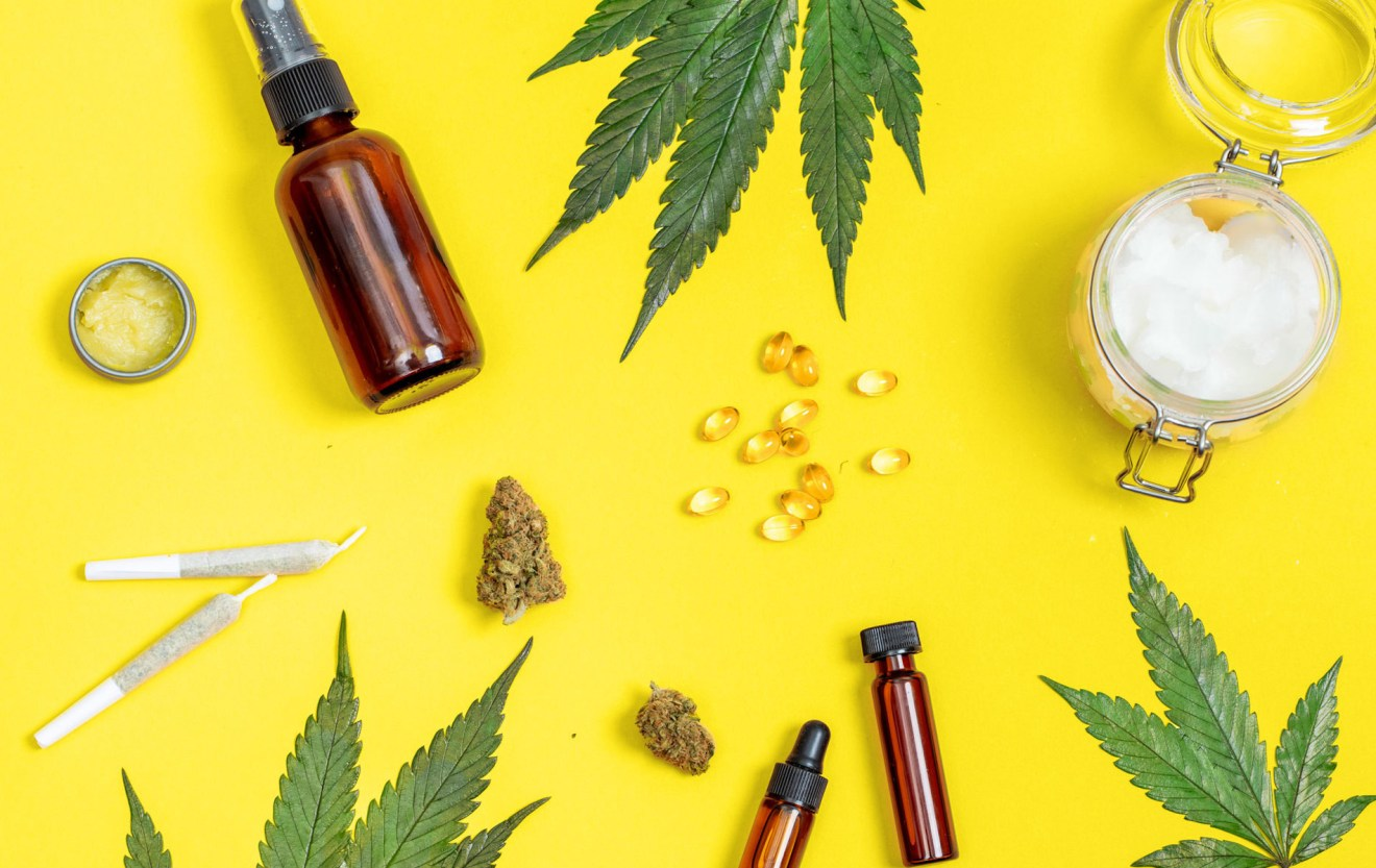 different types of CBD hemp, cannabis, isolate