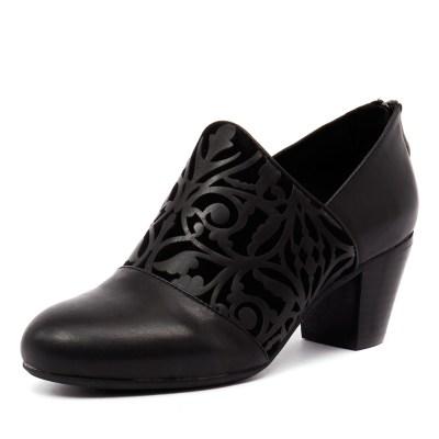 Gamins Finzan Black Leather/Suede (Black)