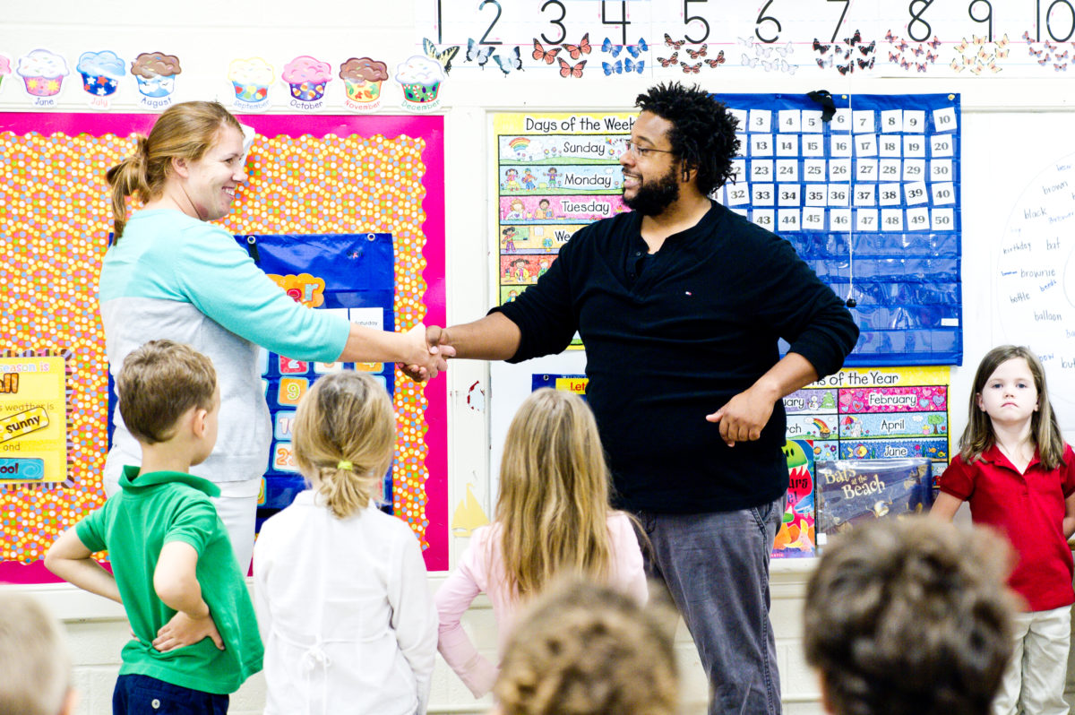 Teaching Artists shaking hands