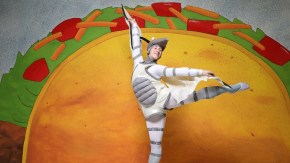 "Aleksandr Schroeder leaps in NCT's ""Dragons Love Tacos."""