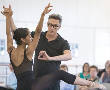 "Nashville Ballet's Kayla Rowser and artistic director Paul Vasterling work on ""Lucy Negro Redux."""