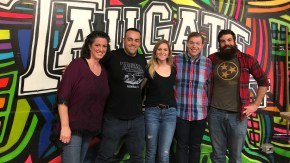 Laura Amond, Wesley Keegan, Laney Fay, Amos Glass and Ryan Bruchey at Tailgate Brewery.