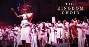 The Kingdom Choir performing in gowns