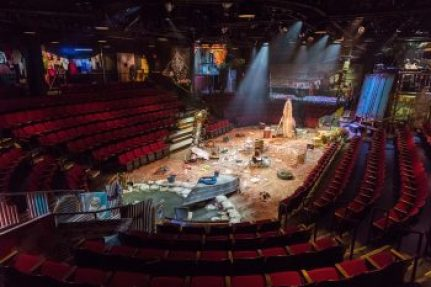 Dane Laffrey's Tony-nominated set for 'Once on This Island' as it was seen at The Circle in the Square Theatre