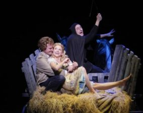 Roger Bart, Sutton Foster and Christopher Fitzgerald in 'Young Frankenstein'
