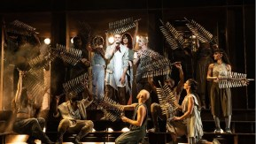 Aaron LaVigne and the company of the North American Tour of Jesus Christ Superstar