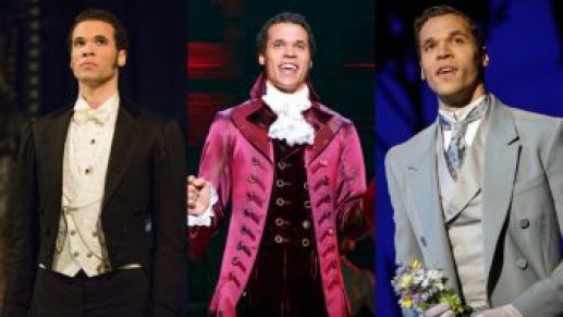Jordan Donica as Raoul in 'The Phantom of the Opera,' Thomas Jefferson in 'Hamilton,' and Freddy Eynsford-Hill in 'My Fair Lady.'