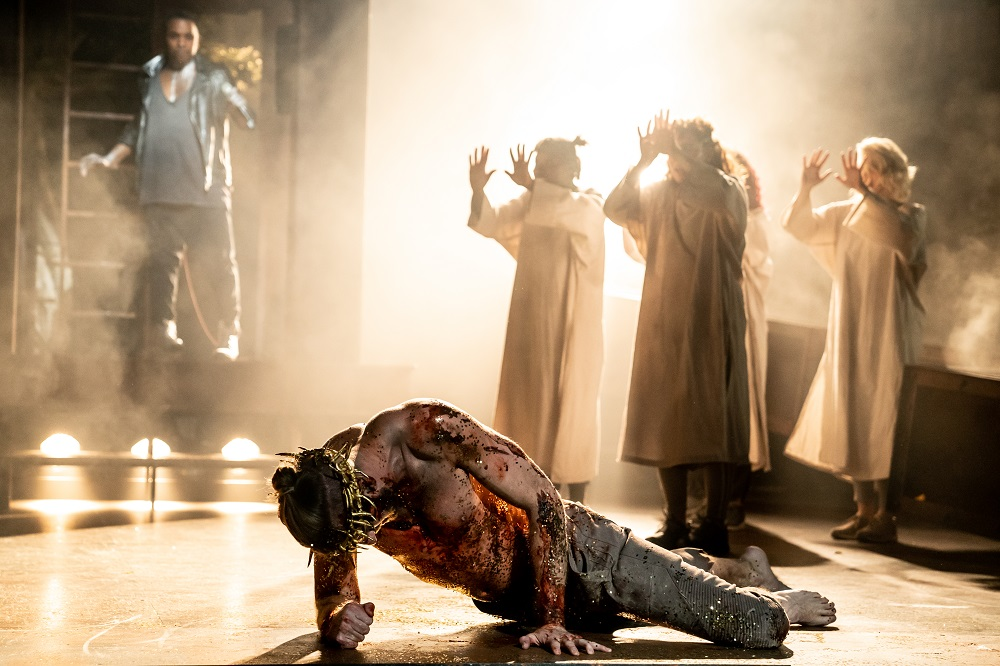 Aaron LaVigne and the company of the North American Tour of Jesus Christ Superstar. Photo by Matthew Murphy.