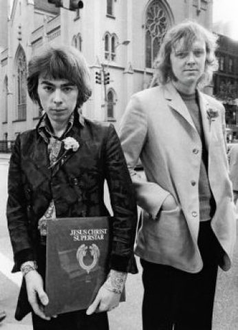 Andrew Lloyd Webber and Tim Rice, 1970. (Photo by Bernard Gotfryd)