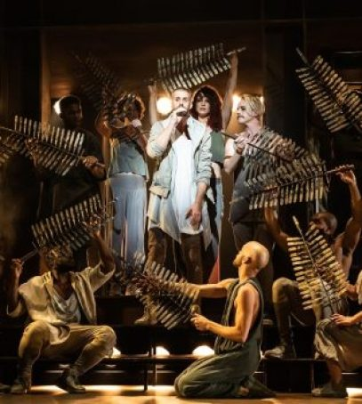 Aaron LaVigne and the company of the North American Tour of 'Jesus Christ Superstar.' (Photo by Matthew Murphy)