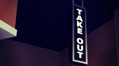 Takeout signage