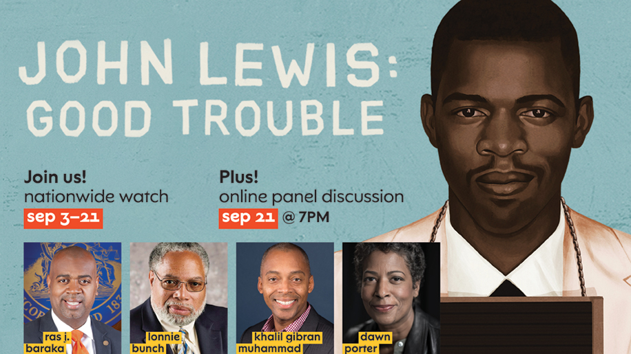 Graphic for John Lewis Good Trouble