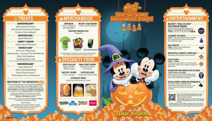 mickey s not so scary halloween party guide map 2017 photo 1 of 2