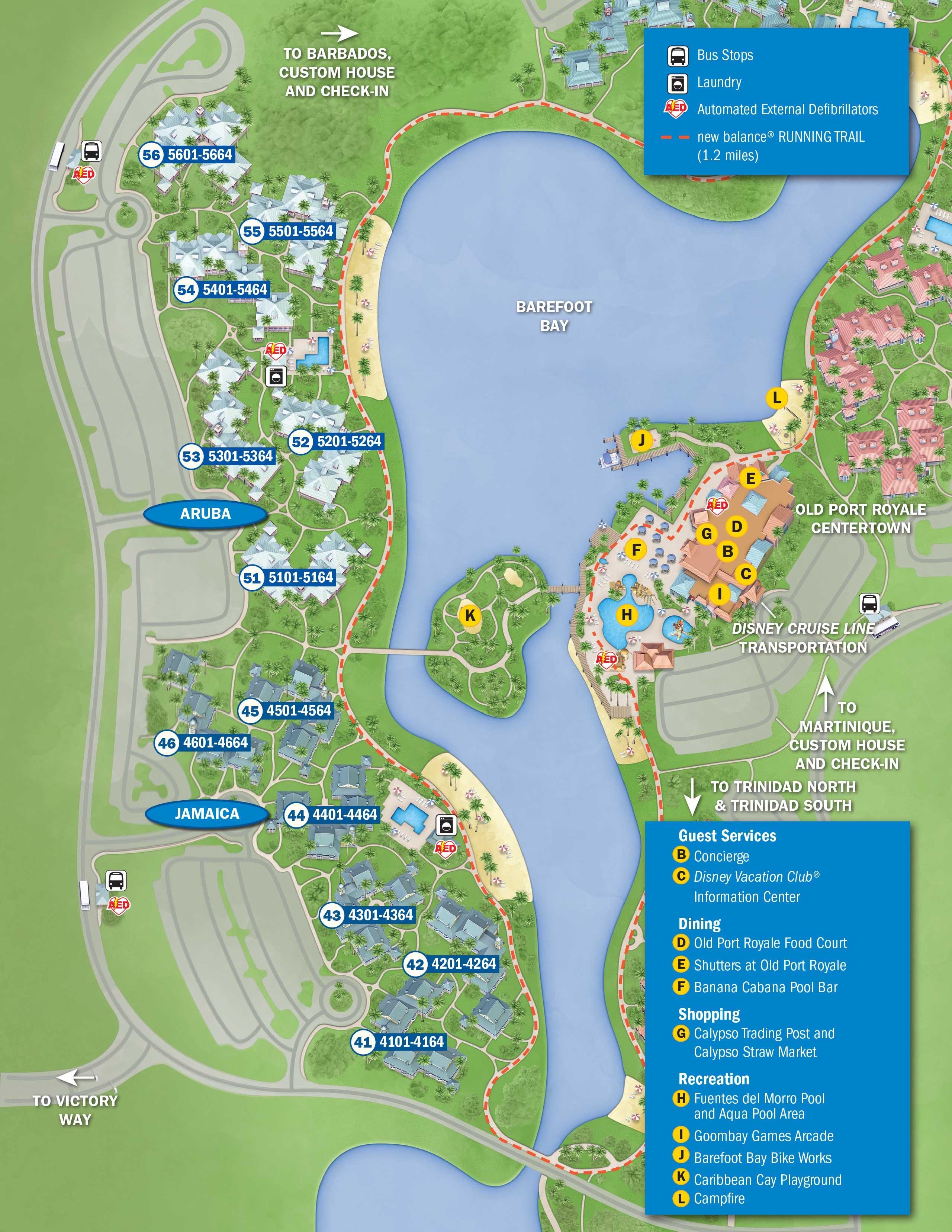 Caribbean Beach Resort Disney World Map 2018