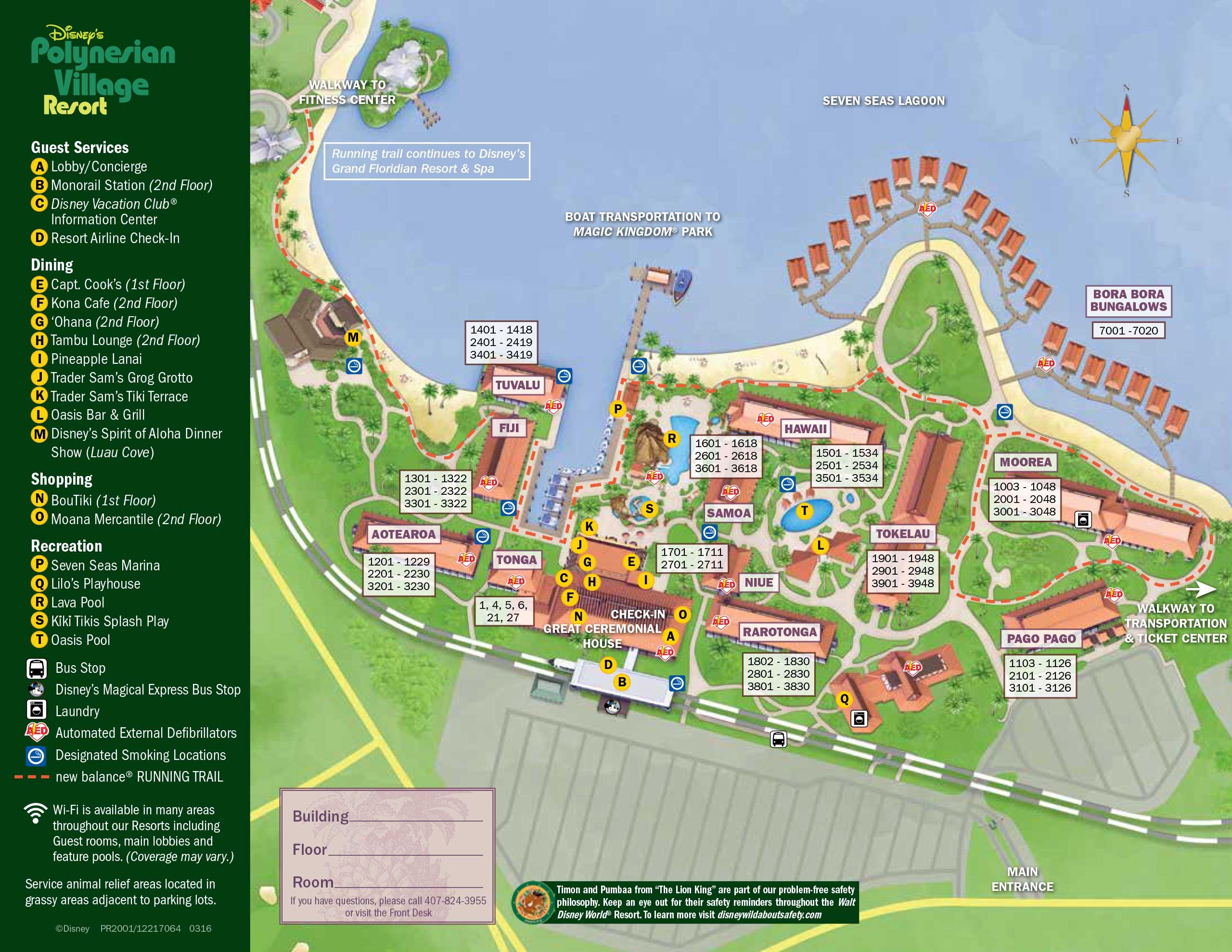 April 2017 Walt Disney World Resort Hotel Maps - 29