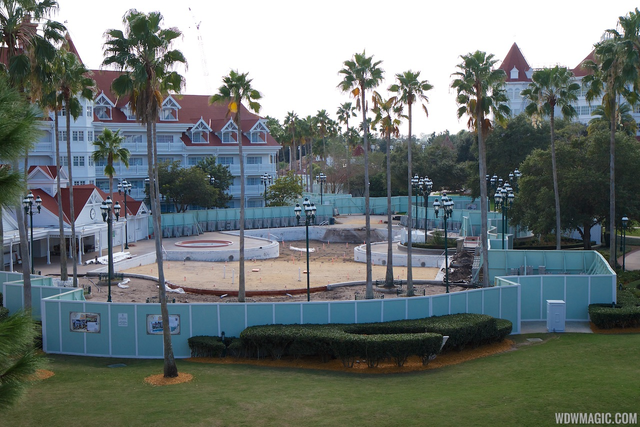 Grand Floridian Courtyard Pool Refurbishment - 1 Of 3