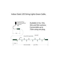 indoor led string lights static warm white on green cable warm white on green cable  [ 1000 x 1000 Pixel ]