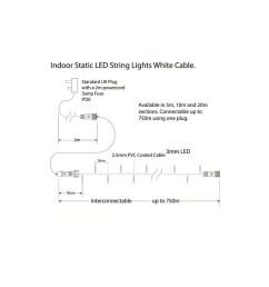 indoor led string lights static warm white on white cable warm white on white cable  [ 1000 x 1000 Pixel ]