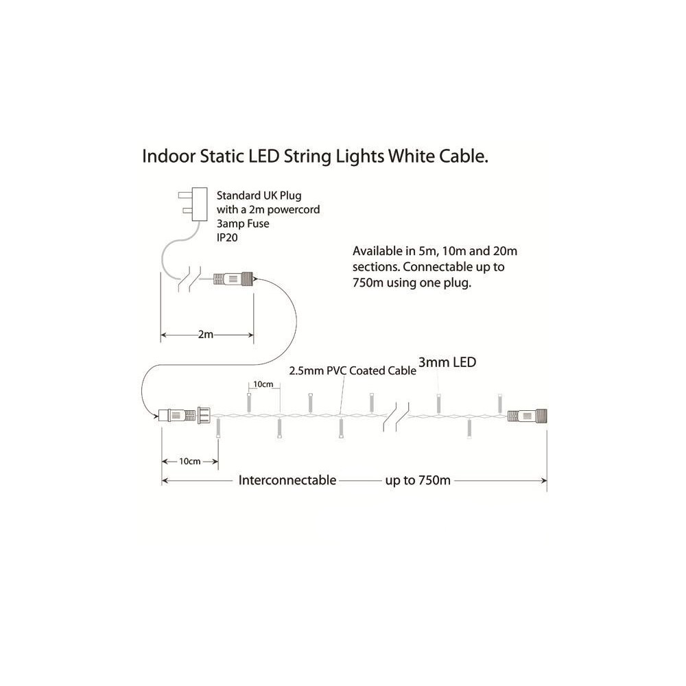 hight resolution of  indoor led string lights static warm white on white cable warm white on white cable