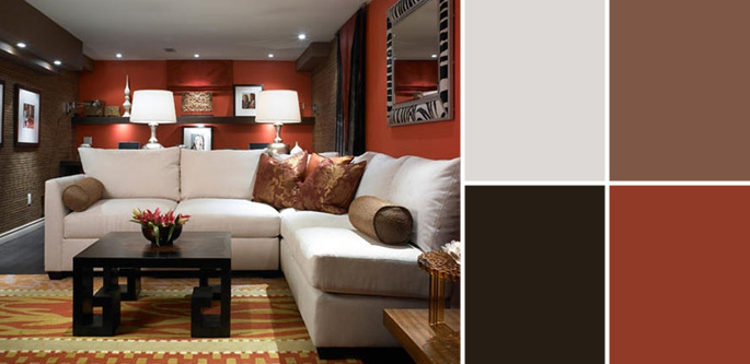 what colour walls with brown leather sofa cinema bed london a palette guide to basement paint colors   home tree atlas