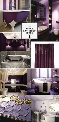 Color Guide: Purple Bathroom Ideas and Designs | Home Tree ...
