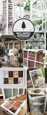 Home Decor Ideas: Using Reclaimed Old Windows