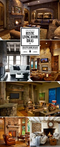 Rustic Living Room Ideas, Decor, and Furniture Designs ...