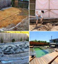 Backyard Swimming Pond Project - 50.000 Backyard Ideas