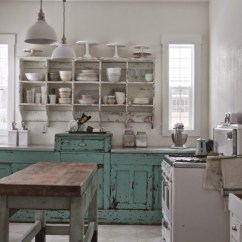 Best Kitchen Cabinet Cleaner Island Electrical Outlet Before And After: Shabby Chic To Modern Vintage ...