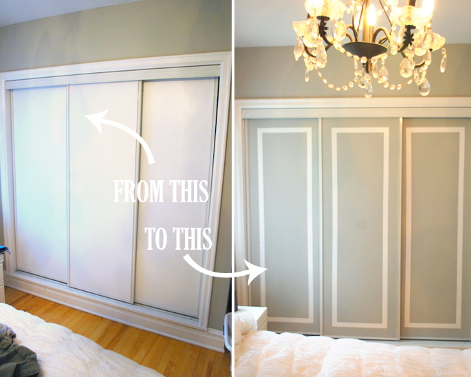 DIY Challenge: Give Your Closet Doors a Makeover  Ideas