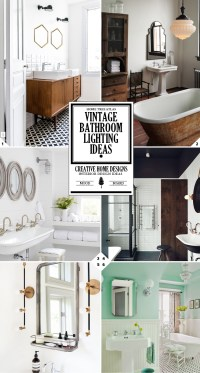 Style Guide: Vintage Bathroom Lighting Fixtures and Ideas ...