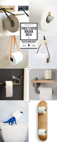 Keeping It Classy: Toilet Paper Holder Ideas, From DIY ...